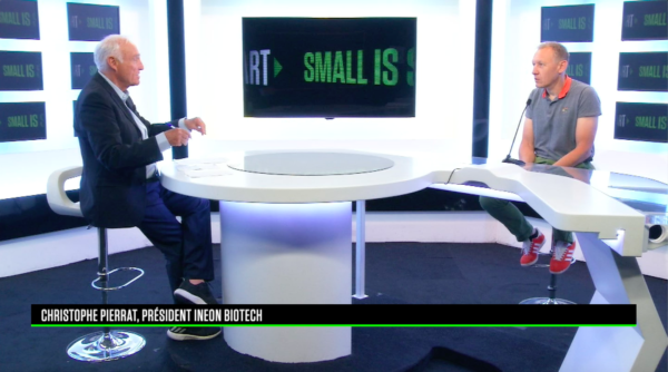 Interview de Christophe Pierrat (COO d'INEON Biotech) donnée sur le plateau de Small is Smart